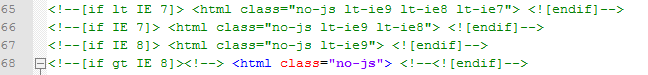Code HTML pour internet explorer