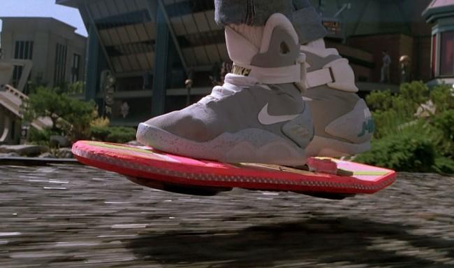 hoverboard de Marty McFly dans Retour vers le Futur 2