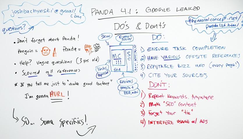 4 choses à faire et 4 choses à ne pas faire pour Google PANDA
