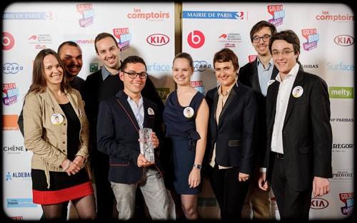 Une partie de l'équipe Webmarketing & co'm (Golden Blog Award 2013 catégorie Economie)