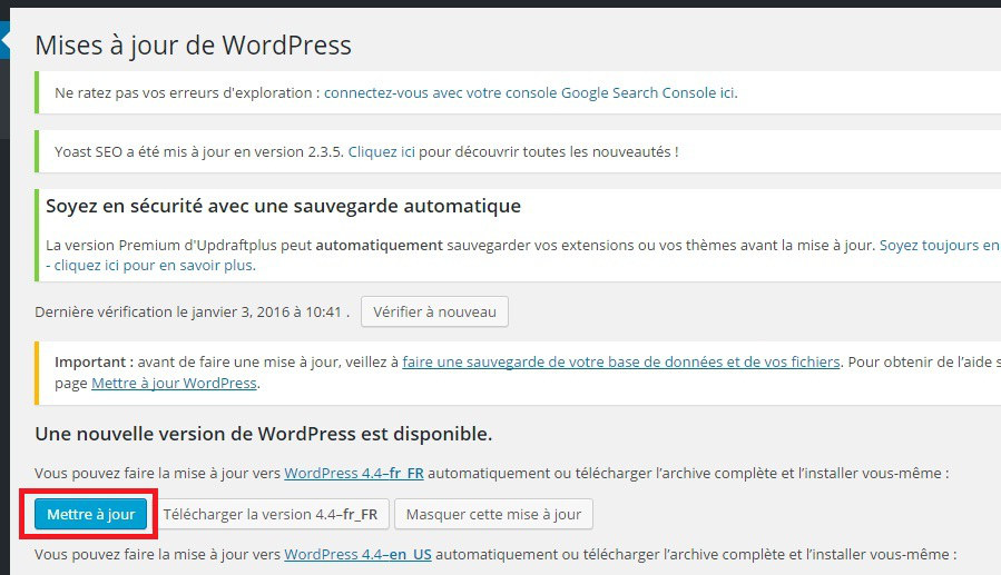 mise-jour-wordpress